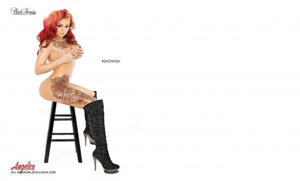 Angelica in SHOW Magazine Black Lingerie #24