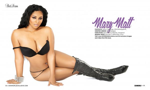 Mary Matt in SHOW Magazine Black Lingerie #24