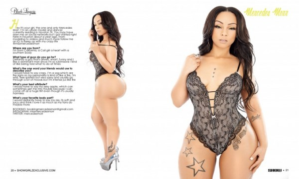 Mercedes Morr @missmercedesmorr in SHOW Magazine Black Lingerie #24