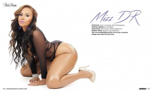 Mizz DR in SHOW Magazine Black Lingerie