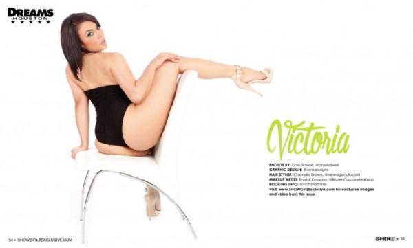 Victoria in SHOW Magazine Black Lingerie