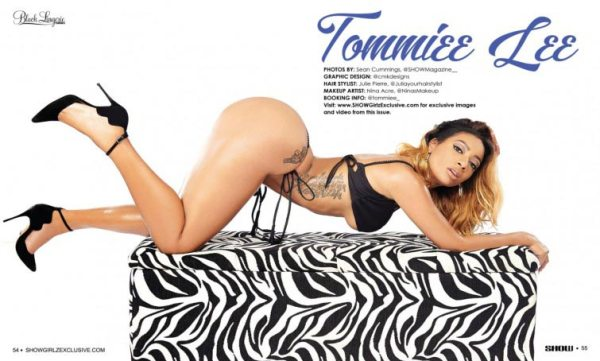 Tommie @tommiee_ in SHOW Magazine Black Lingerie