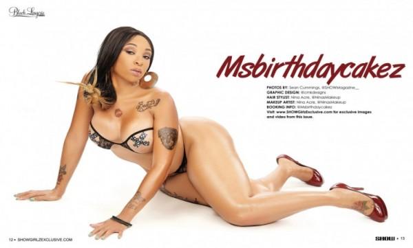 Ms. Birthday Cakez in SHOW Magazine