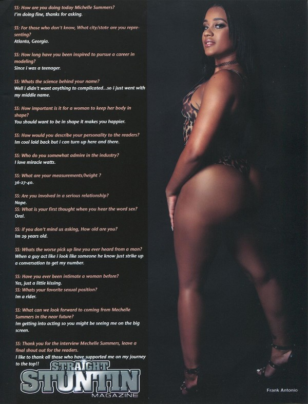 Mechelle Summers in Straight Stuntin Issue #43
