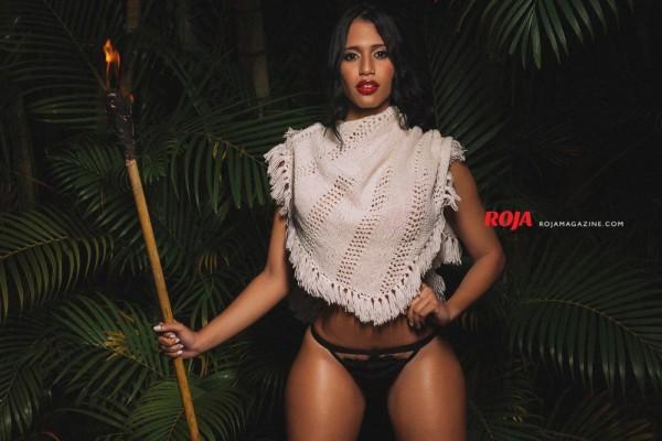 Gloria Gómez in Roja Magazine - Algis Infante