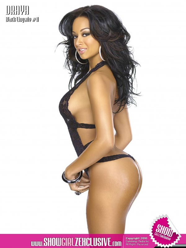 Draya Michele in SHOW Magazine Black Lingerie #11