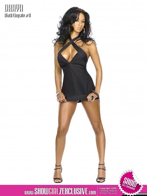 Draya Michele in SHOW Magazine Black Lingerie #11