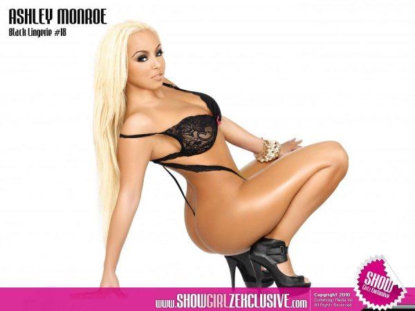 Ashley Monroe in SHOW Magazine Black Lingerie 18