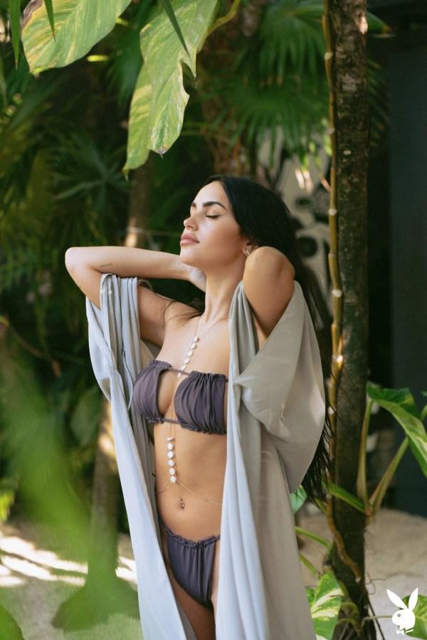 Claudia Tihan in Island Attitude x Playboy