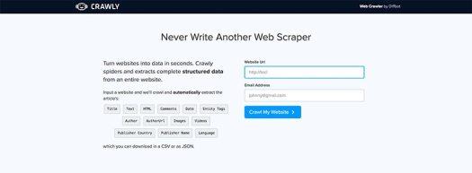 diffbot website crawler
