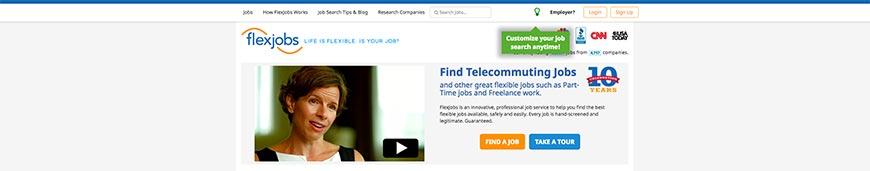 flexjobs freelance website