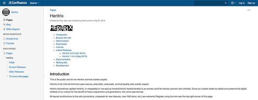 heritrix website crawler