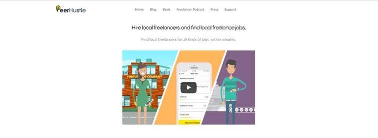peerhustle freelance website