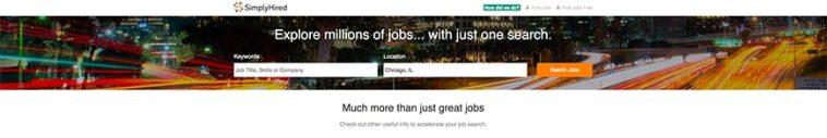 simplyhired freelance website