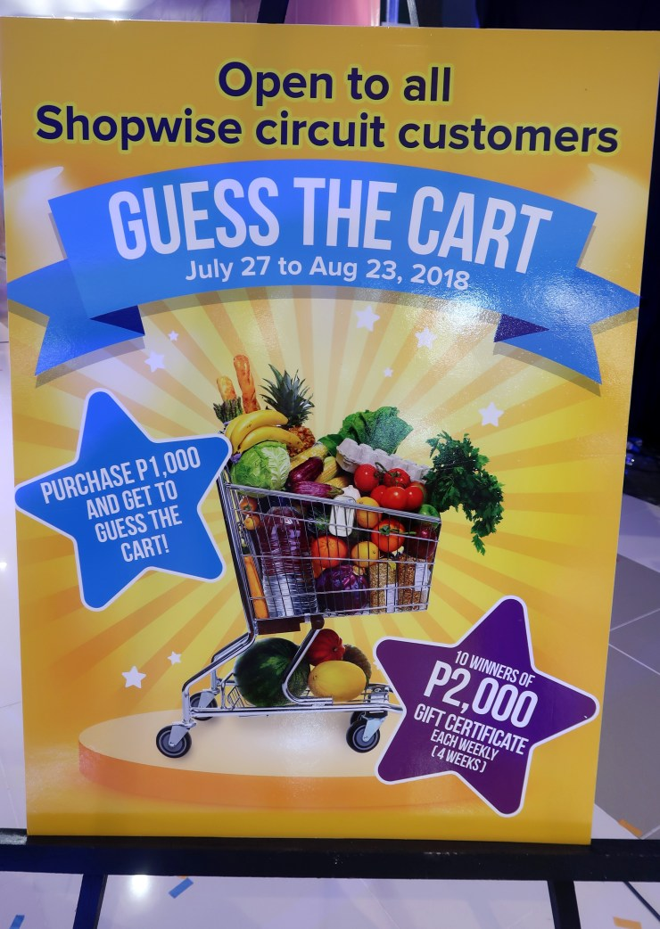 dyosathemomma: Shopwise Circuit Makati, Guess The Cart July-August 2018