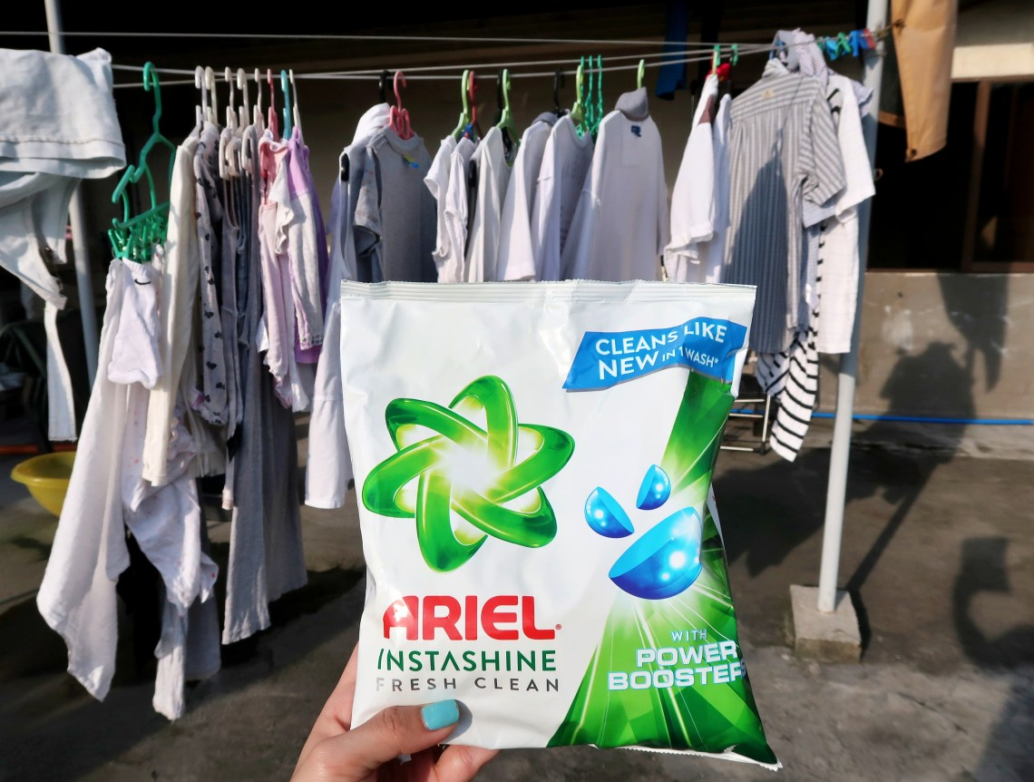 dyosathemomma: Ariel Instashine review, laundry detergent, mommy blogger ph