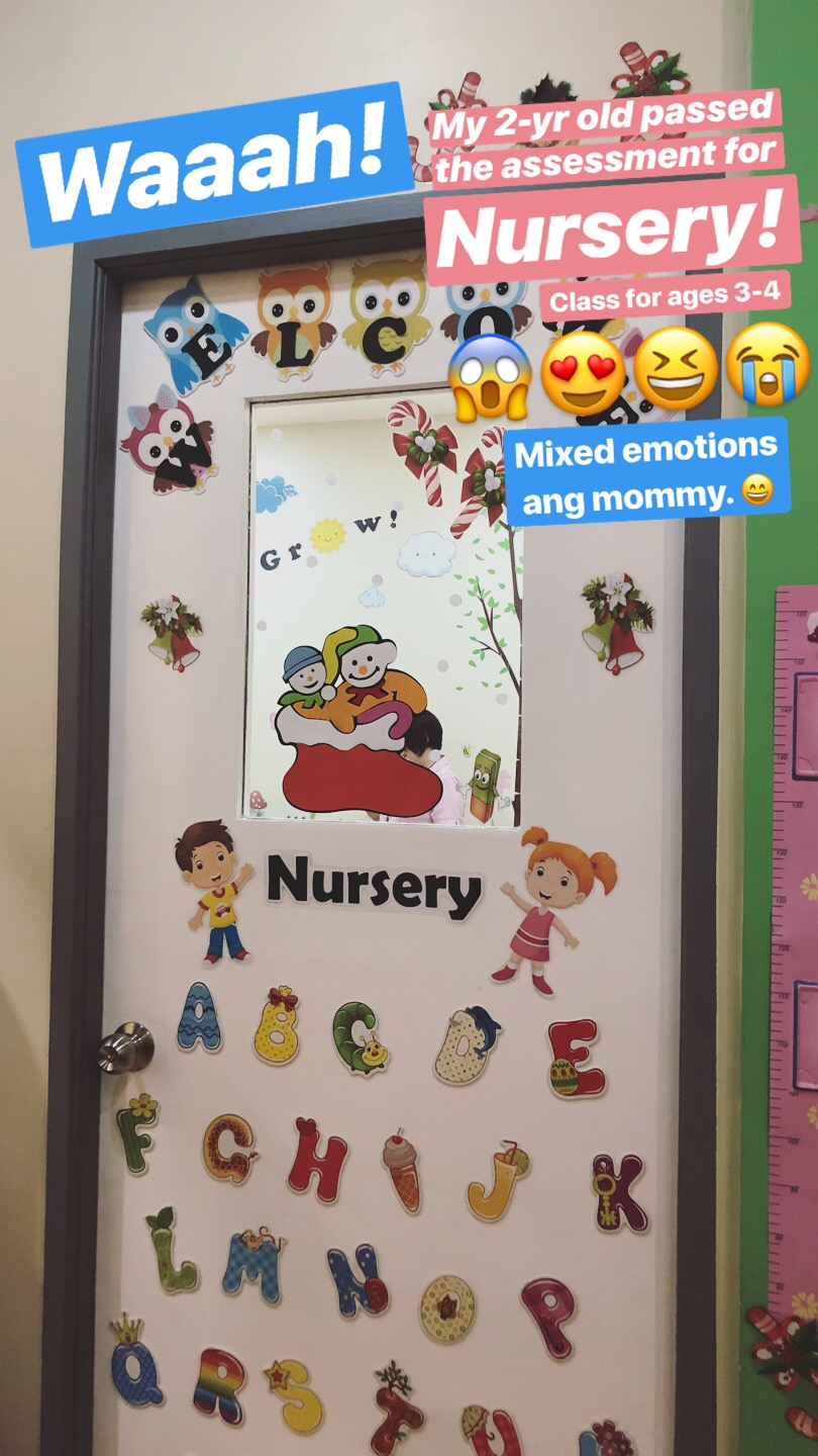 dyosathemomma: what age to enroll in nursery, mommy blogger, WisdomMind Grace Christian College
