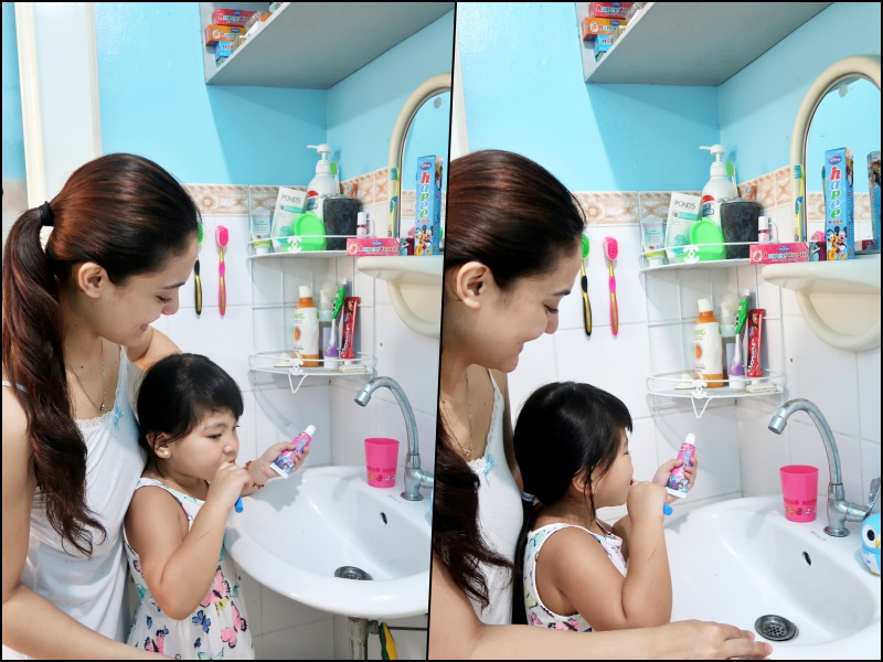 dyosathemomma-Ways To Help Your Kid Enjoy Brushing-Amaria Niszha-mommy blogger ph-Hapee Kiddie Toothpaste