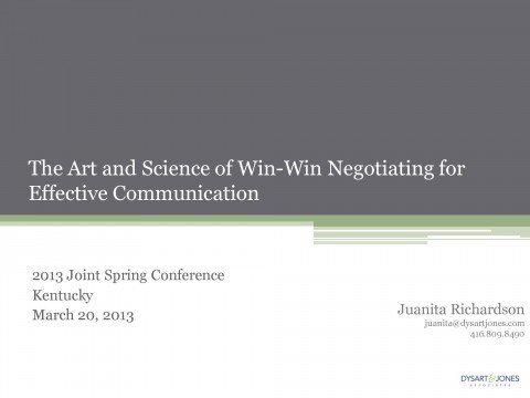 Art Science of Win Win Negotiating for Effective Communication_Page_01