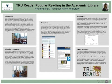Wendy Lehar TRU Reads Poster