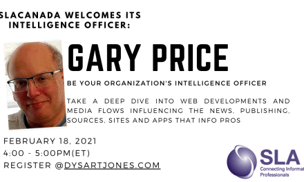 SLACanada Chat with Gary Price February 18, 4pm