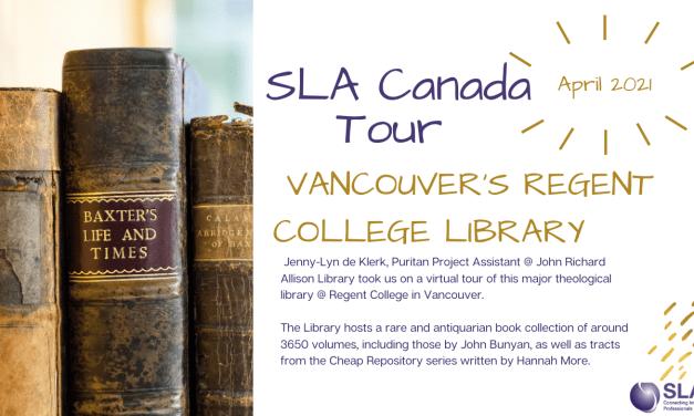 SLACanada Tour: Vancouver's Regent College Library