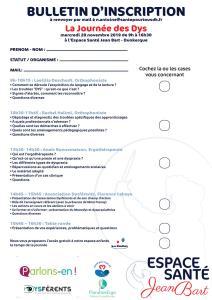 Bulletin_inscription journée des dys Dunkerque 2019
