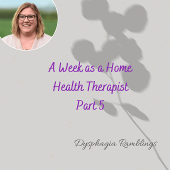 A Week as a Home Health Therapist Part 5