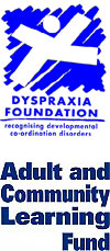 Adult and Community Learning Fund and Dyspraxia Foundation Logos