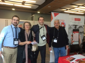 Greek physicians visiting our stand.