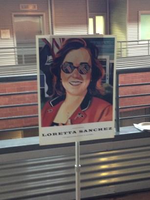 Loretta Sanchez campaign poster.