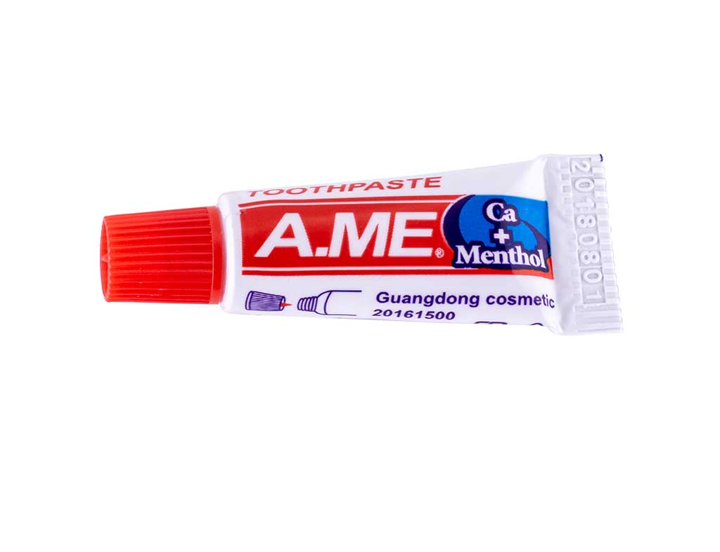 toothpaste in a tube 3 gr
