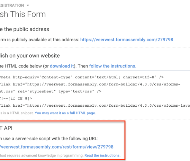 Change The Url In The Code Sample Below To Match Your Forms Url Only The Last Part Insert_form_id_here Should Be Different