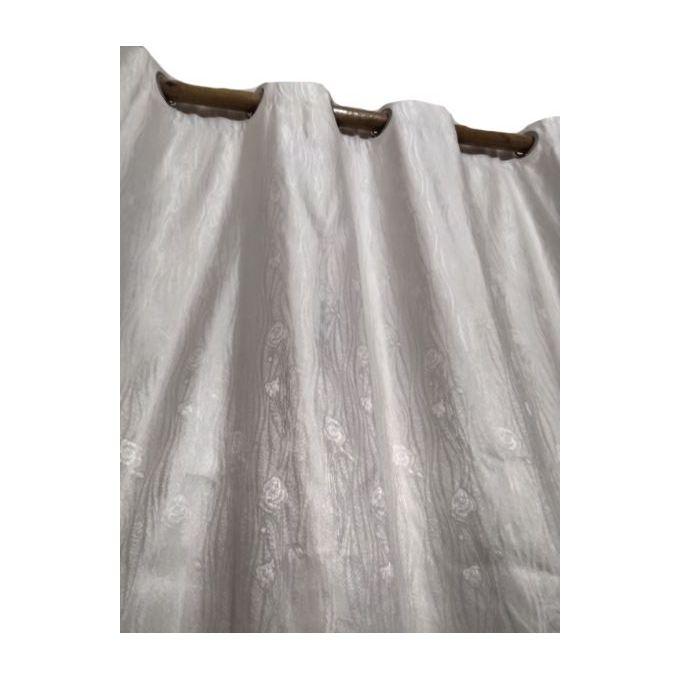 rideau d interieur a passants satine 150 x 280 cm blanc casse