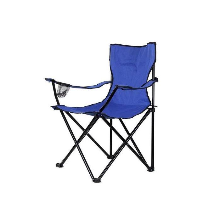 chaise de plage et camping pliante 2971 bleu