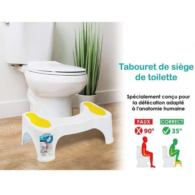 tabouret de toilette blanc