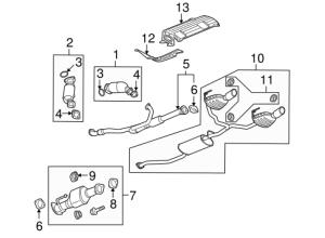OEM 2014 Buick Enclave Exhaust Components Parts
