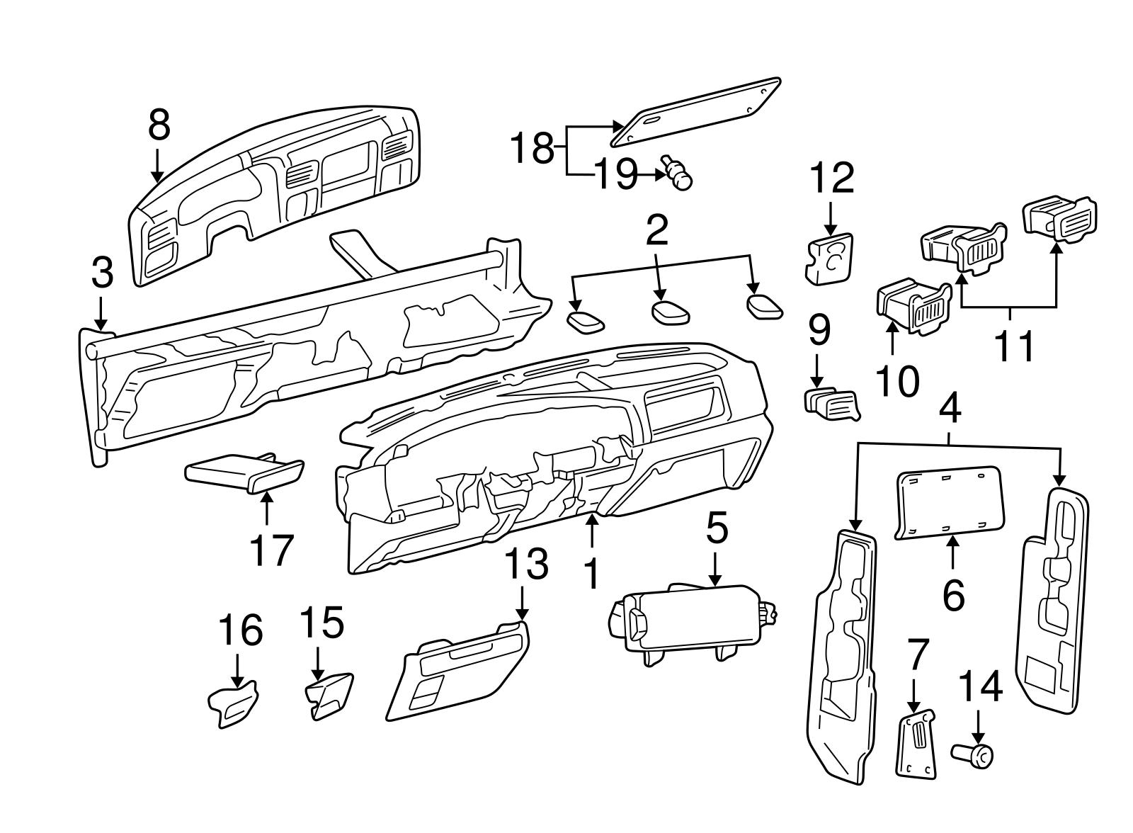 Ford F 250 F 350 Super Duty Dash Board Cluster