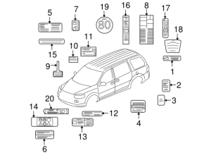 Labels Parts for 2007 Buick Terraza | GM Parts Club