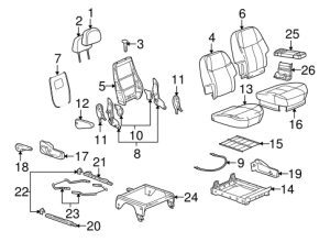 Rear Seat Components for 2007 Buick Terraza
