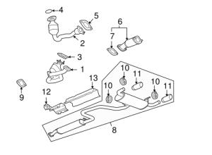 OEM 2007 Pontiac G6 Exhaust Components Parts | GMPartsOnline