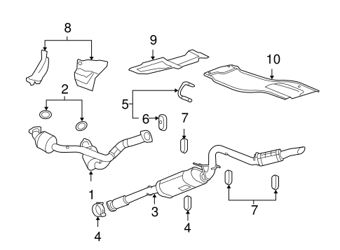 exhaust components for 2012 gmc sierra