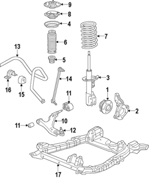 RIDE CONTROL 2010 Cadillac SRX OEM – New GM Parts