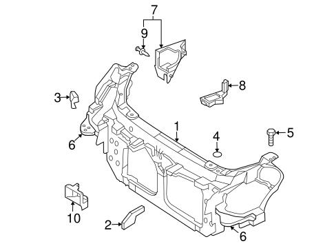 radiator support for 2004 infiniti g35