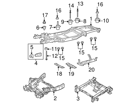 frame components for 2005 ford f 150