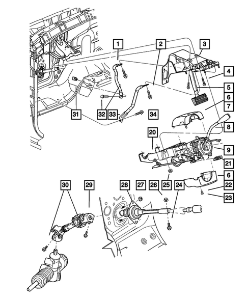 steering column for 2003 dodge durango