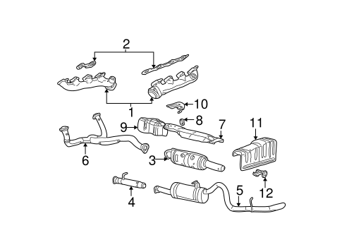 exhaust components for 2006 ford f 350