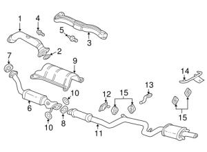 OEM 2001 Chevrolet Impala Exhaust Components Parts
