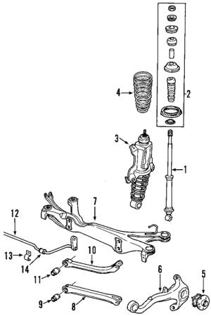 OEM 2002 Saturn L200 Rear Suspension Parts | GMPartsOnline