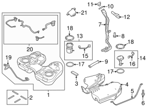 Fuel System Components for 2013 Ford Explorer   TascaParts